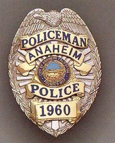Anaheim Ca Police Badge Police Badge