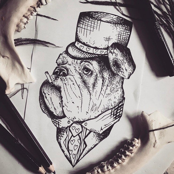 Super cooles Bulldoggenwannado für @ricky_spaniiiish 💎 Morgen starten wir wieder mit euren Projekt durch und wir freuen uns so sehr darauf dass es wieder losgehen kann🖤  #finelinetattoo #tattoo #tats #ink #inked #getinked #blackworkillustrations #btattoing #darkartists #germantattooers #wuppertal #ecke_wunderland #smada123_ #tattooart #tattooing #instagood #instaart #tatts #ttblackink #dotwork #blackwork #bulldog #dogtattoo #bulldogtattoo #animaltattoo #illustration #wannado #tattoooftheday