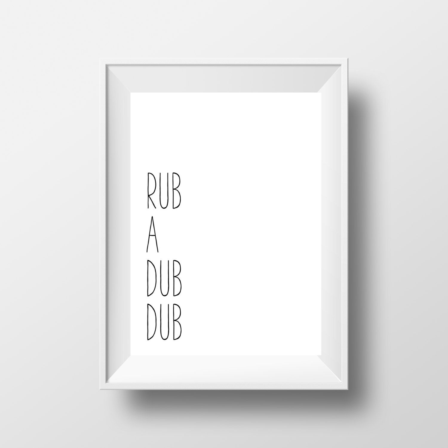 Black and white prints for bathroom - Rub A Dub Dub Print Bathroom Print Bathroom Art Black And White Print Kids Bathroom Wall Print Bathroom Printable Bathroom Decor