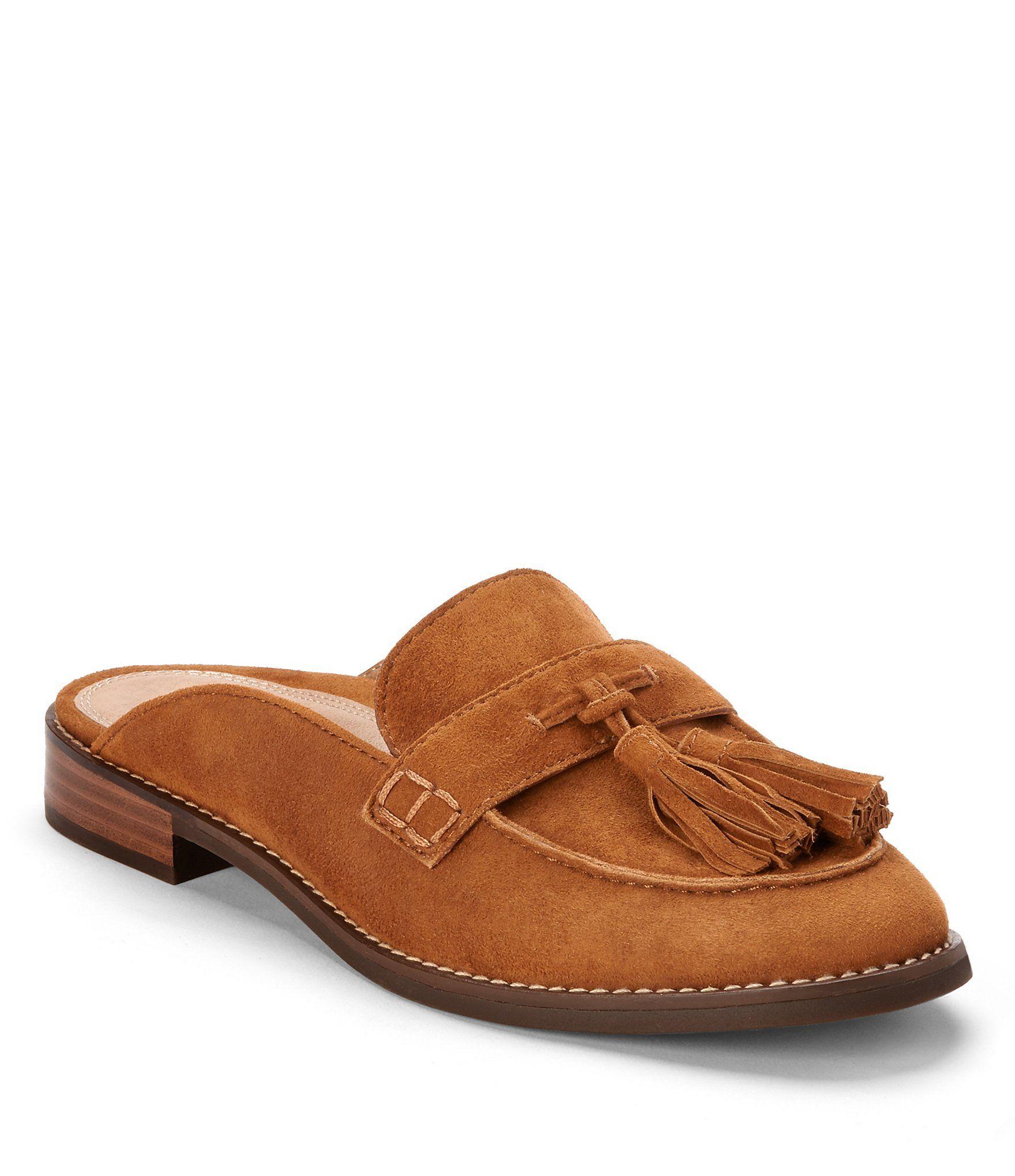 Reagan Patent Leather Tassel Block Heel Mules qmPIE4
