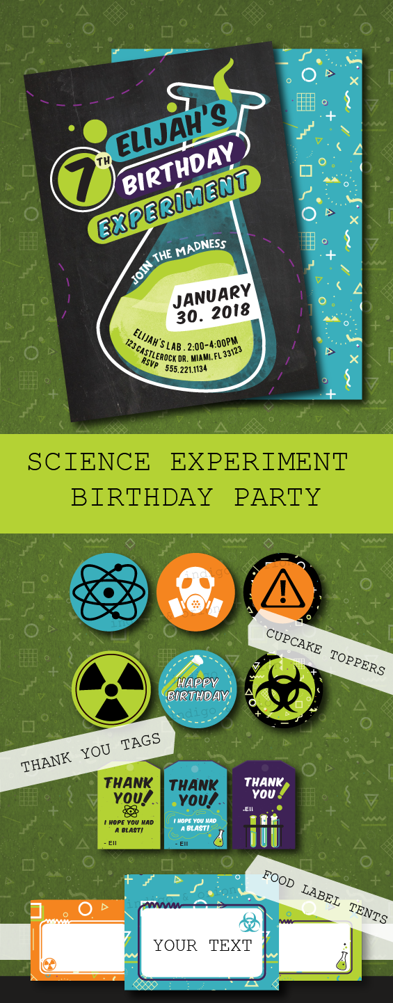 Exelent Mad Science Party Invitations Photo - Invitation Card Ideas ...