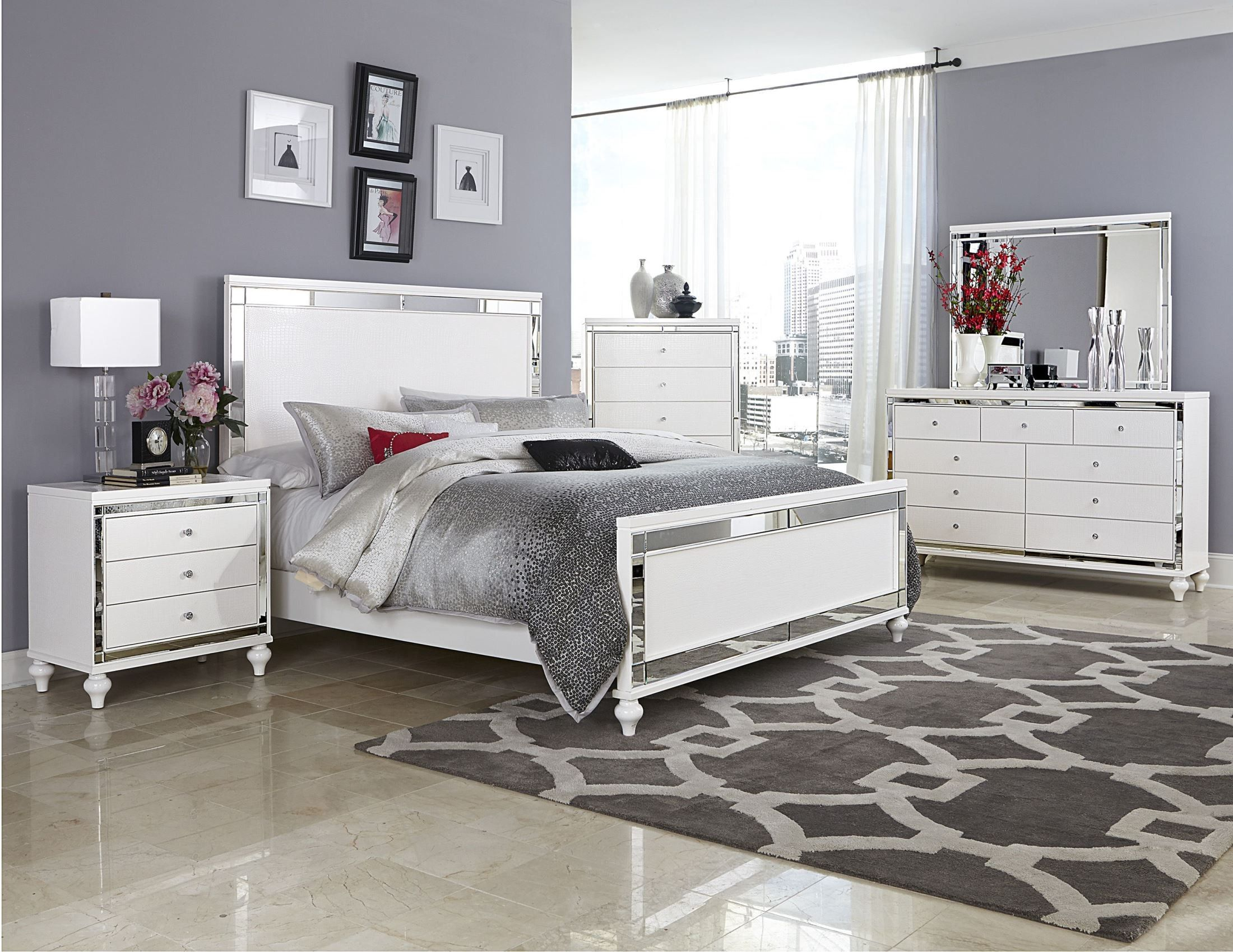 1stopbedrooms Com White Panel Bedroom Set Grey Bedroom Design