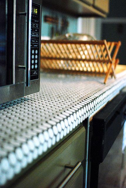 Penny Tile Countertops Tile Countertops Kitchen Unique Kitchen