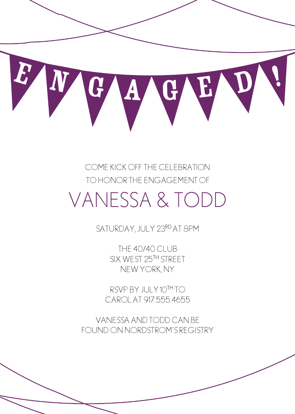 Cheap and minimalist engagement party invitations template with cheap and minimalist engagement party invitations template with purple color scheme a part of engagement party invitation templates stopboris