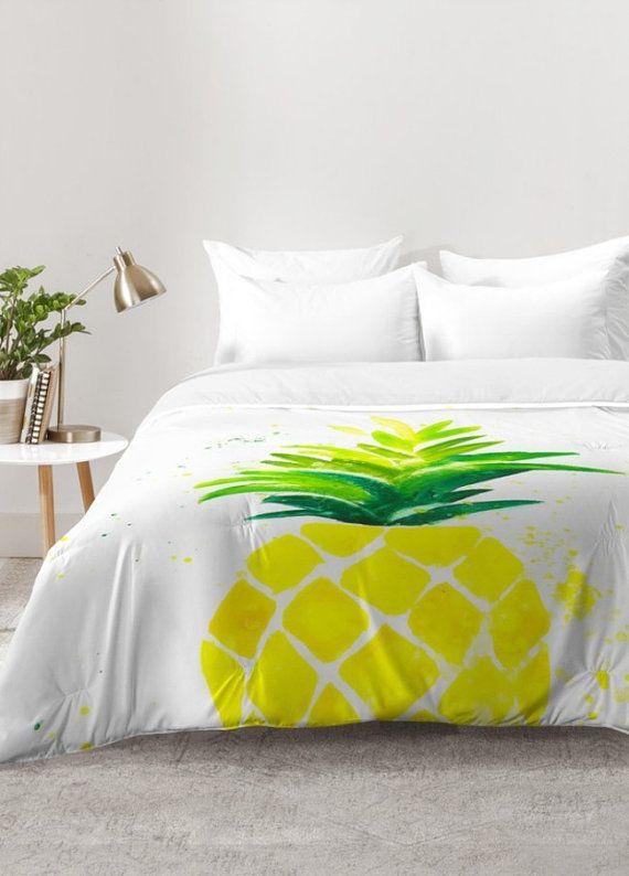 Pineapple Sunshine Comforter Comforter Sets Bedroom Decor