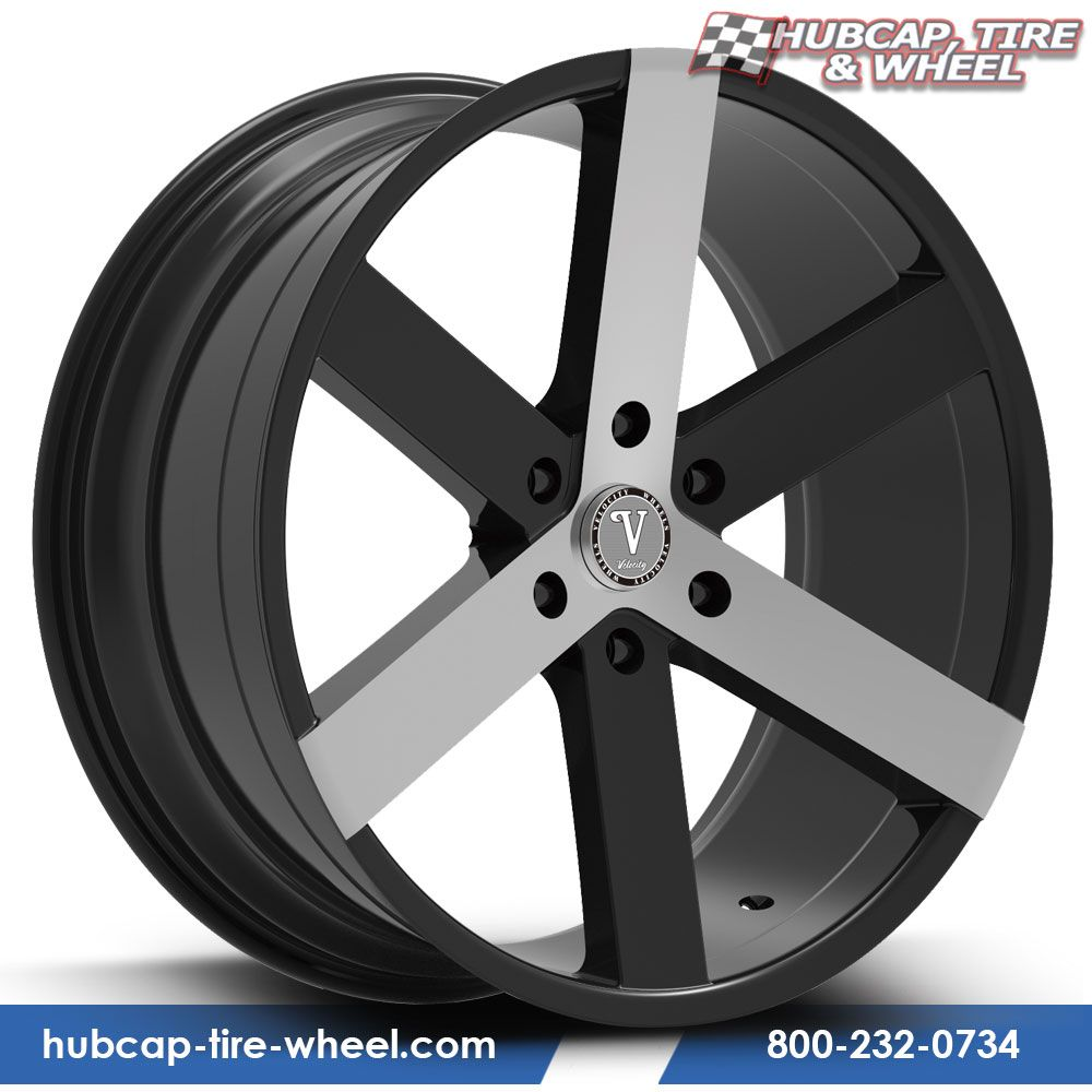 Velocity VW-22 Black & Machined Custom Wheels Rims