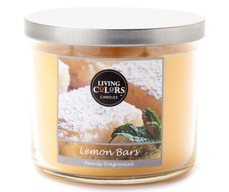 Living Colors Lemon Bars 3 Wick Candle Big Lots Lemon Bars Lemon Candle 3 Wick Candles Living colors candles room spray