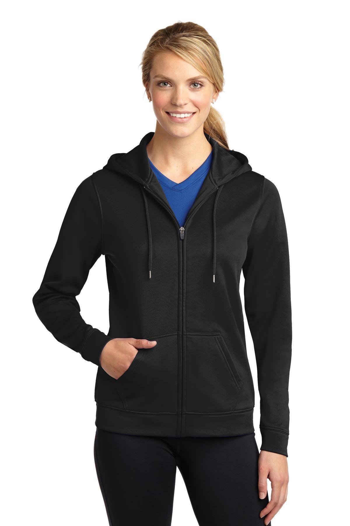 SportTek Ladies SportWick Fleece FullZip Hooded Jacket