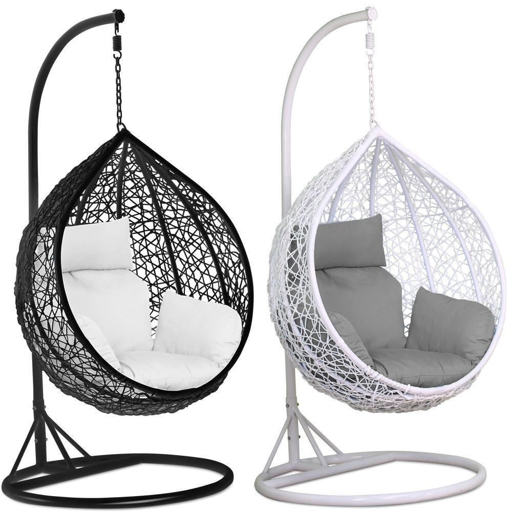 Rattan Swing Patio Garden Weave Hanging Egg Chair w/Cushion& Cover ...