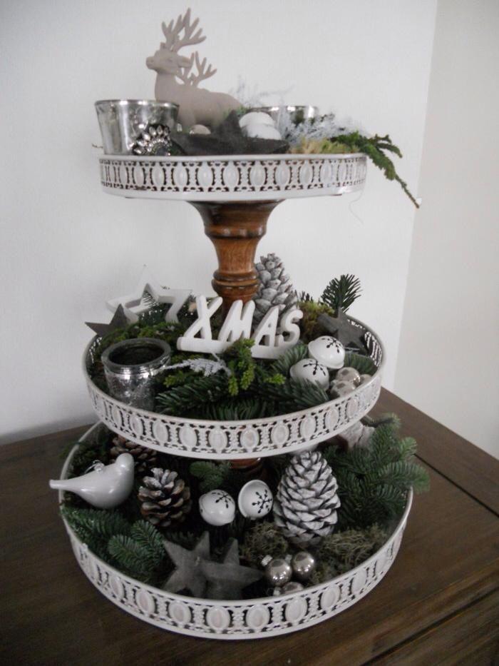 Christmas etag re etagere dekorieren weihnachten diy - Etagere dekorieren ...
