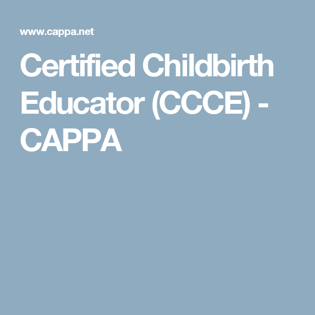 Certified Childbirth Educator Ccce Doula Childbirth Education