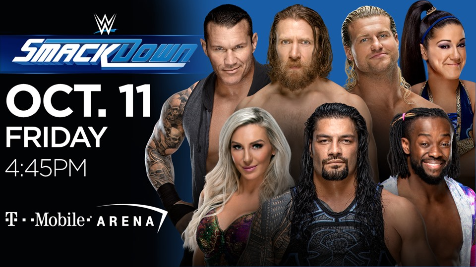 Wwe Smackdown Live Comes To T Mobile Arena Friday Oct 11 Vegas24seven Com Wwe Arena Friday