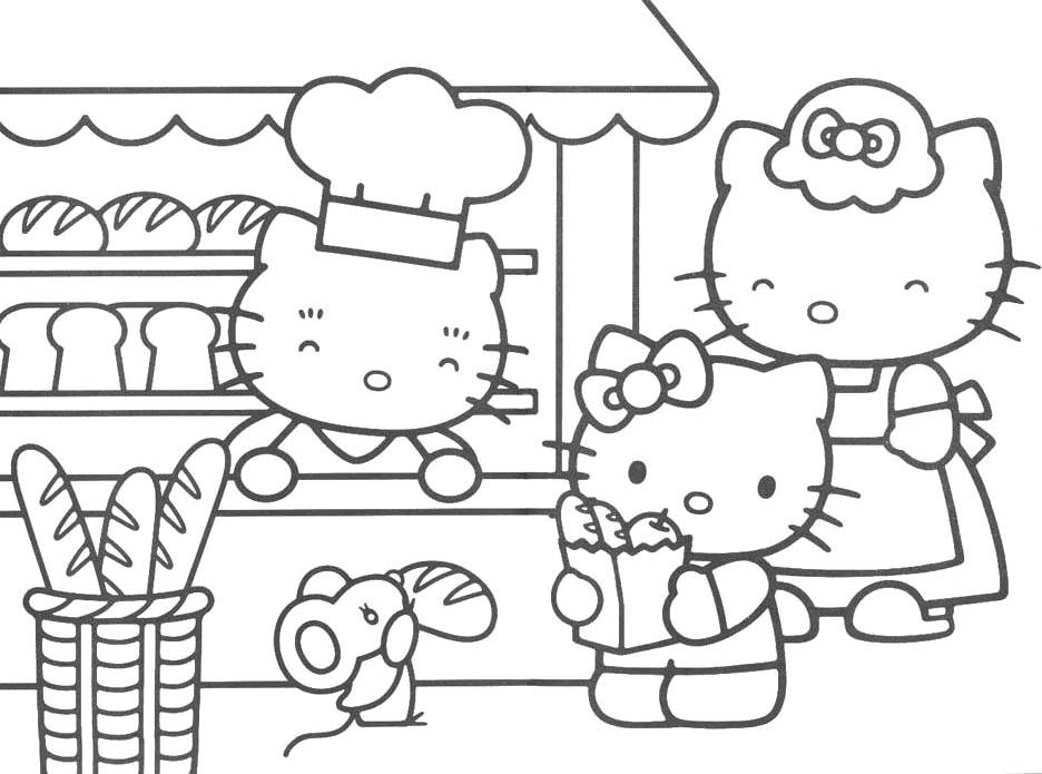 I Have Download Hello Kitty And Her Mother Were Shopping Vegetable Coloring Page Hello Kitty Colouring Pages Hello Kitty Coloring Kitty Coloring