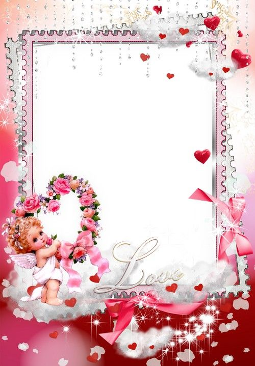 Free pack love frame png for Photoshop with hearts and beautiful ...
