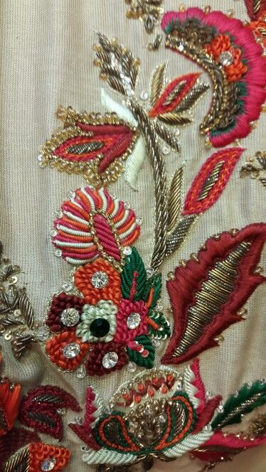 Resham Work Details Pinterest Embroidery Sewing And Beaded