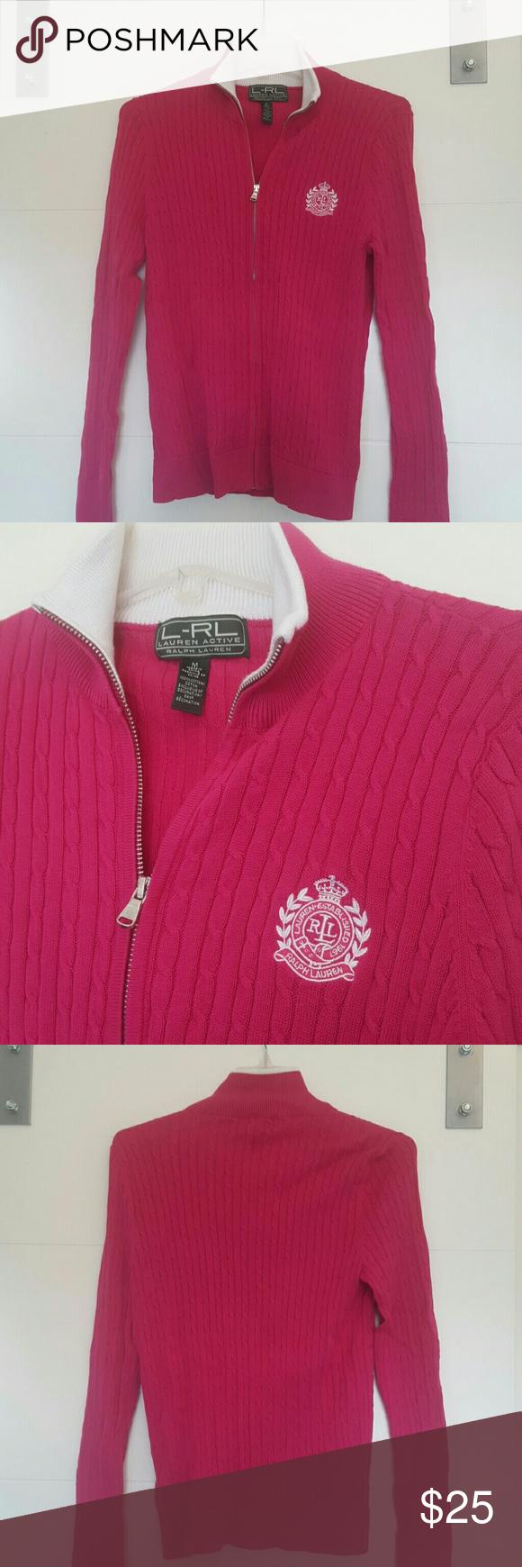 Ralph Lauren Sweater L-RL Lauren Active  100% cotton  44 bust  25 Length  27 sleeve Ralph Lauren Sweaters
