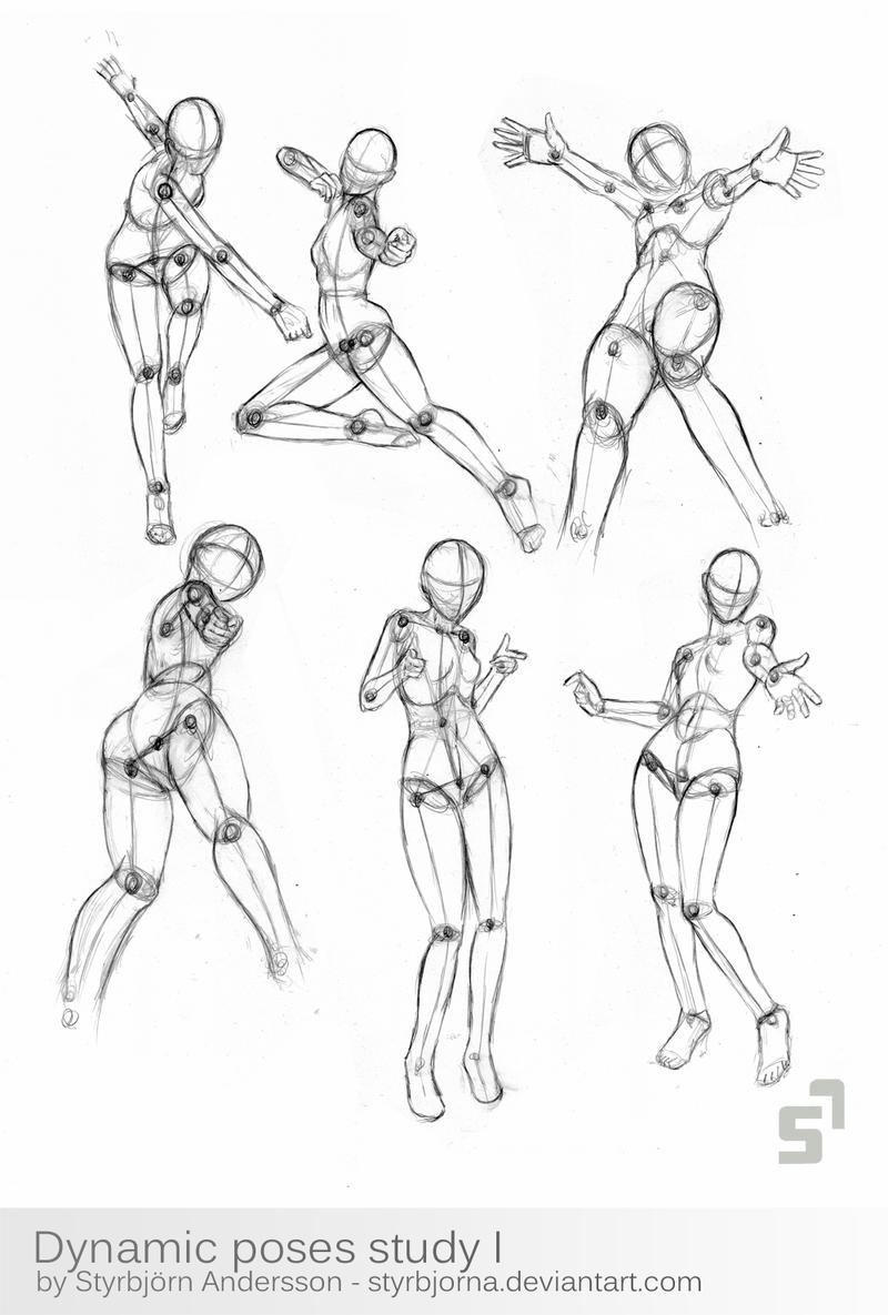 Dynamic Poses Study 1 by StyrbjornA.deviantart.com on