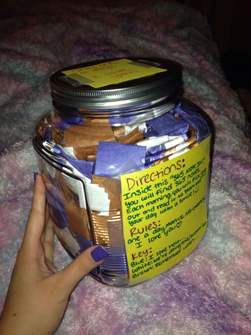 365 Note Jar To My Boyfriend Cute Presents Pinterest