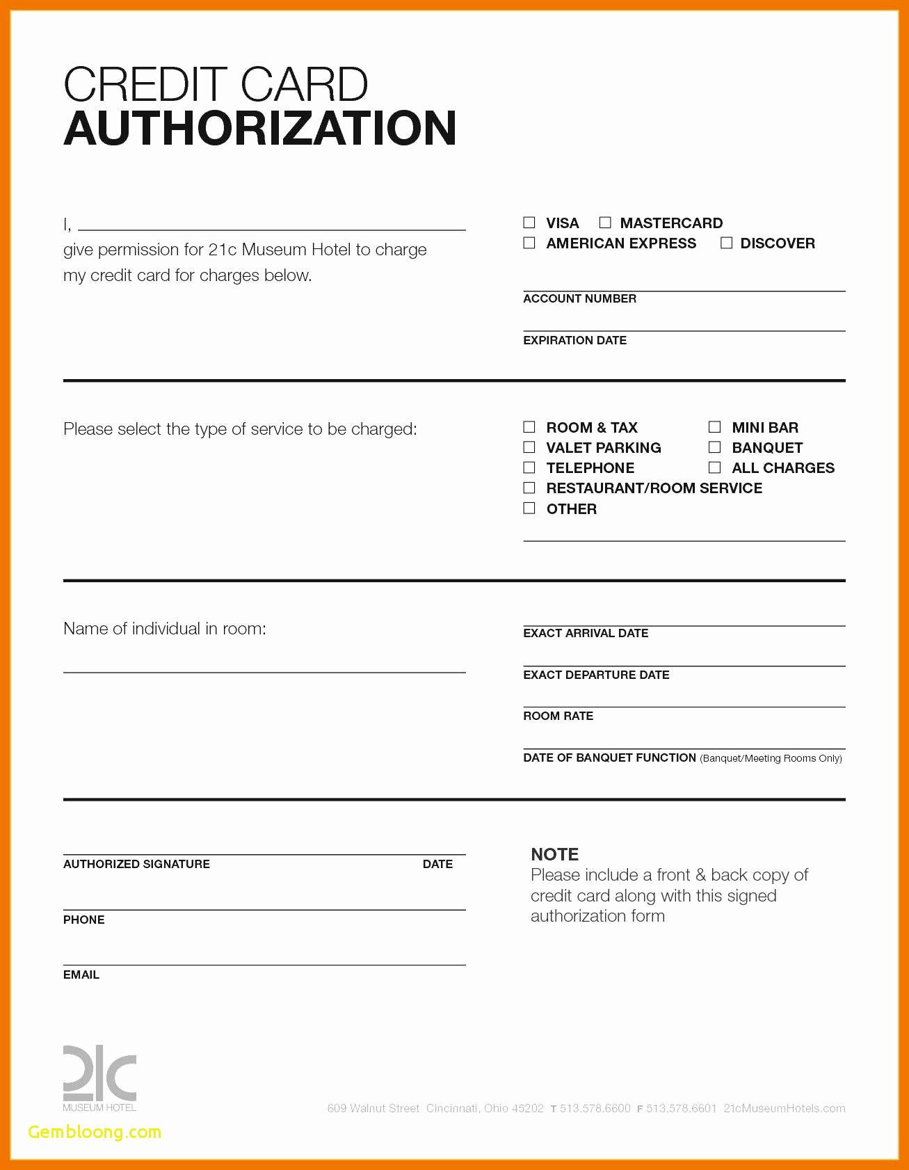 Hotel Credit Card Authorization Form Template Elegant Within Credit Card Payment Form Template Pdf Cumed Org Hotel Credit Cards Words Discover Credit Card