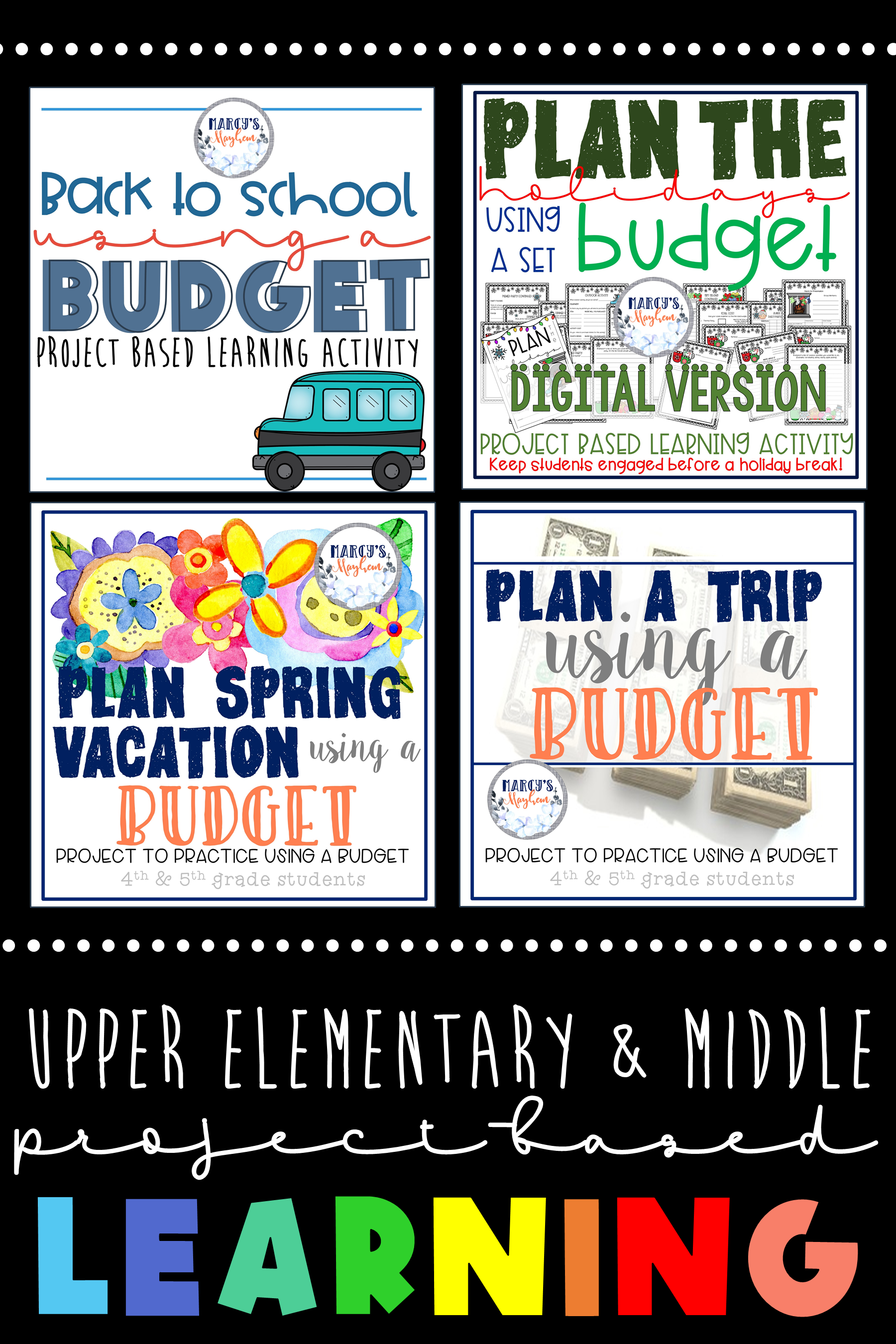 Math Budgeting Project Based Learning Classroom 4th