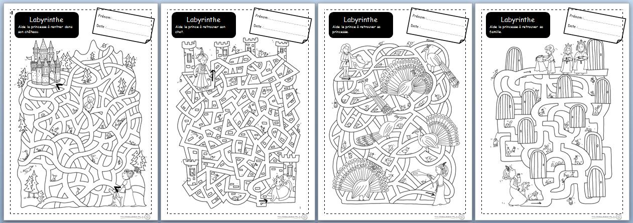 labyrinthe, motricité fine, cycle 2, CP, Ce1, graphisme   Projet en ...