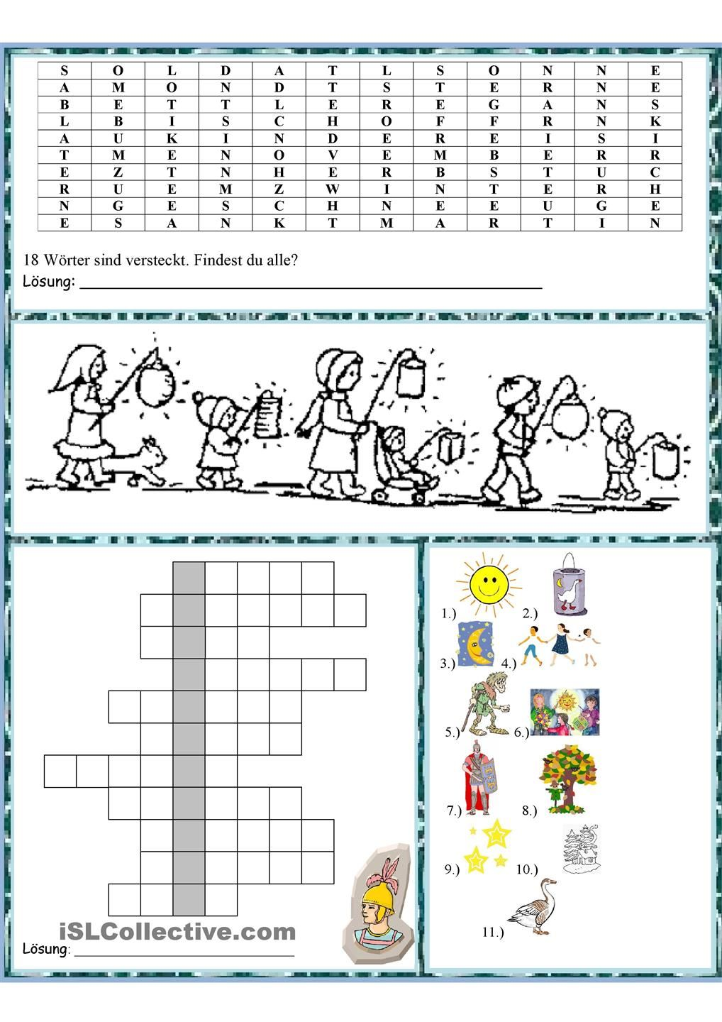 Martinstag | Niemiecki | Pinterest | Worksheets