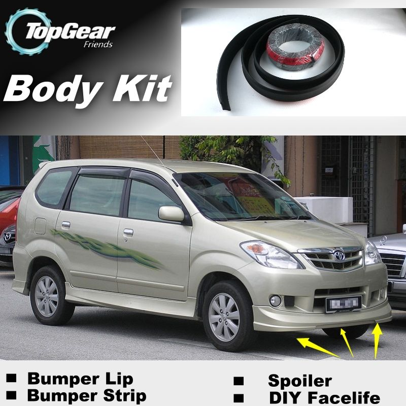 bodykit grand new avanza 2016 harga all yaris trd sportivo 2018 for toyota daihatsu xenia bumper lip front spoiler tg friends to car