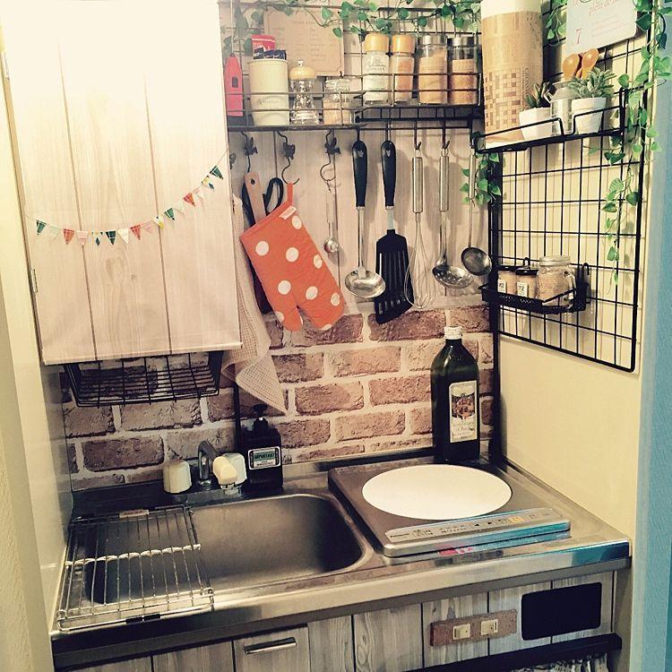 一人暮らしの狭いキッチン向け収納方法 レイアウト実例 In 2020