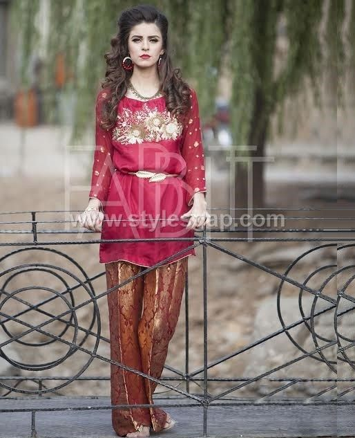 36224a7179f Pakistani Waist Belt Dresses Designs & Latest Trends 2018-2019 collection  includes jewlery belts,
