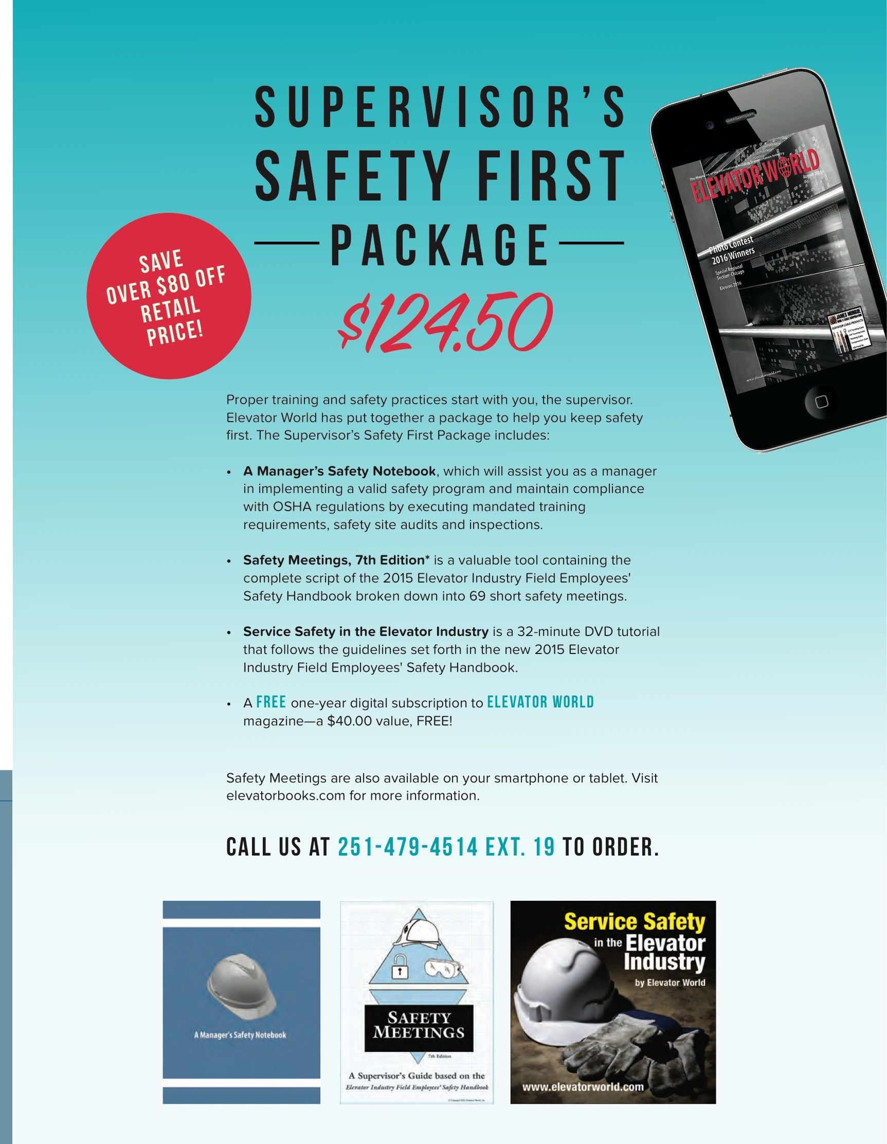 Proper training and safety practices start with you, the