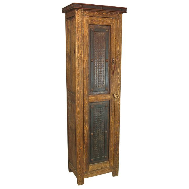 Merveilleux Tall Rustic Cabinet With Rusted Iron Door