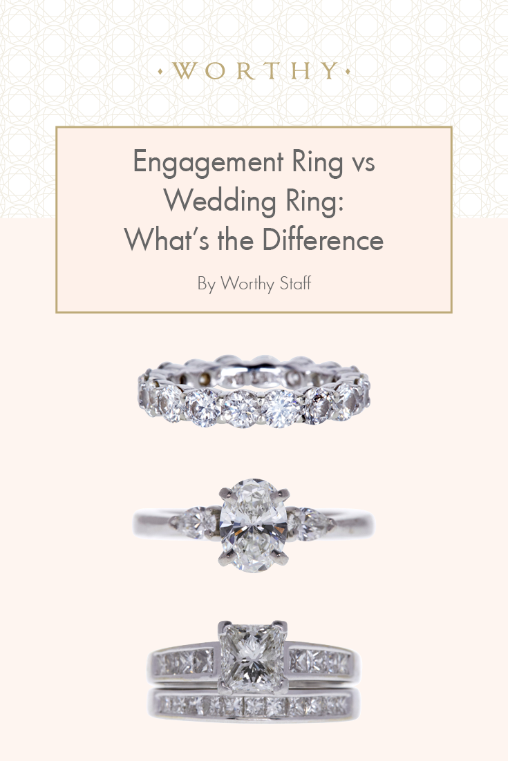 Engagement Ring Vs Wedding Ring What S The Difference Engagement Ring Pictures Engagement Vs Wedding Ring Engagement Rings