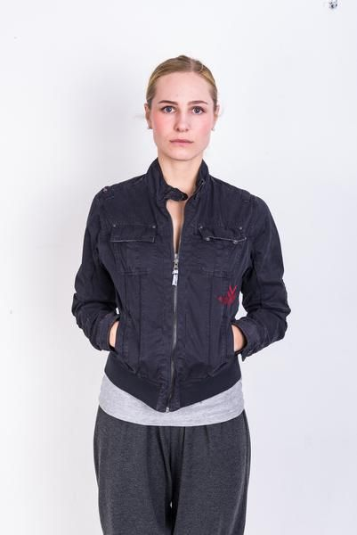 New Zealand Auckland Womens L Jacket Navy Blue Full Zipper