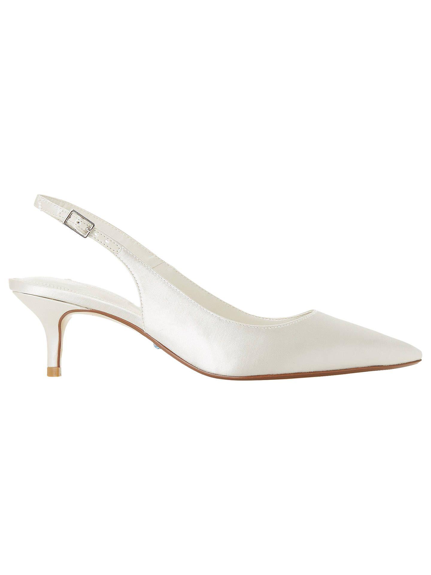 0dbed8c78a2 BuyDune Bridal Casandraa Kitten Heel Slingback Court Shoes