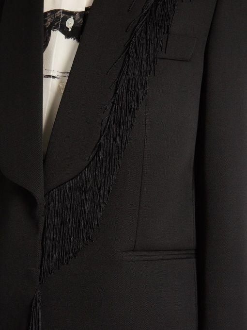 Stella McCartney Fringed-trim single-breasted blazer
