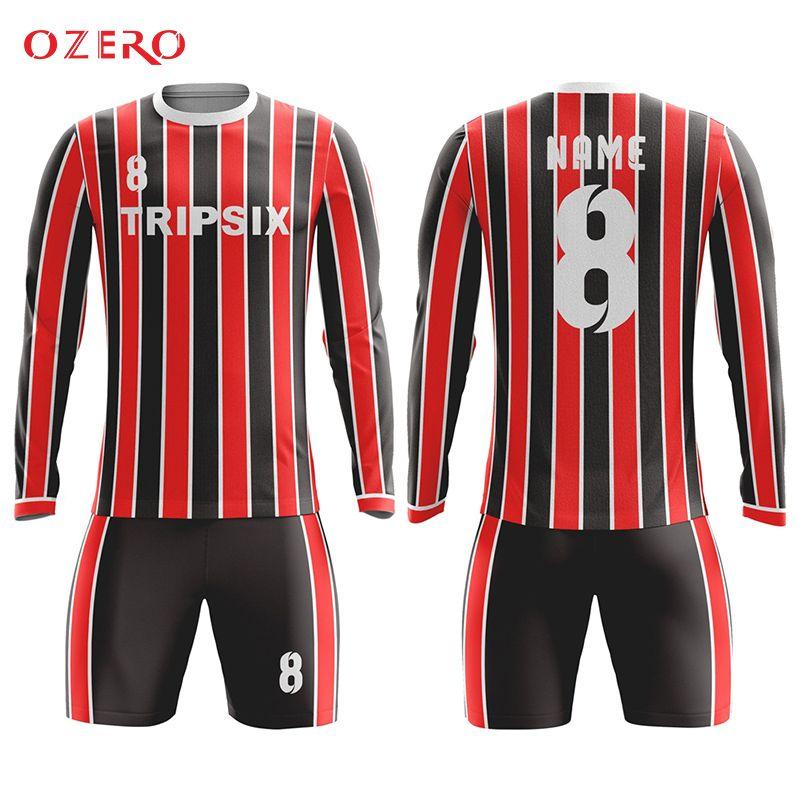 Find More Soccer Jerseys Information about custom design blank men long  sleeve short sleeve Soccer Jersey c2de64189f00