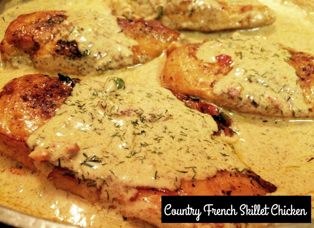 Country french skillet chicken recipe recipes cooking