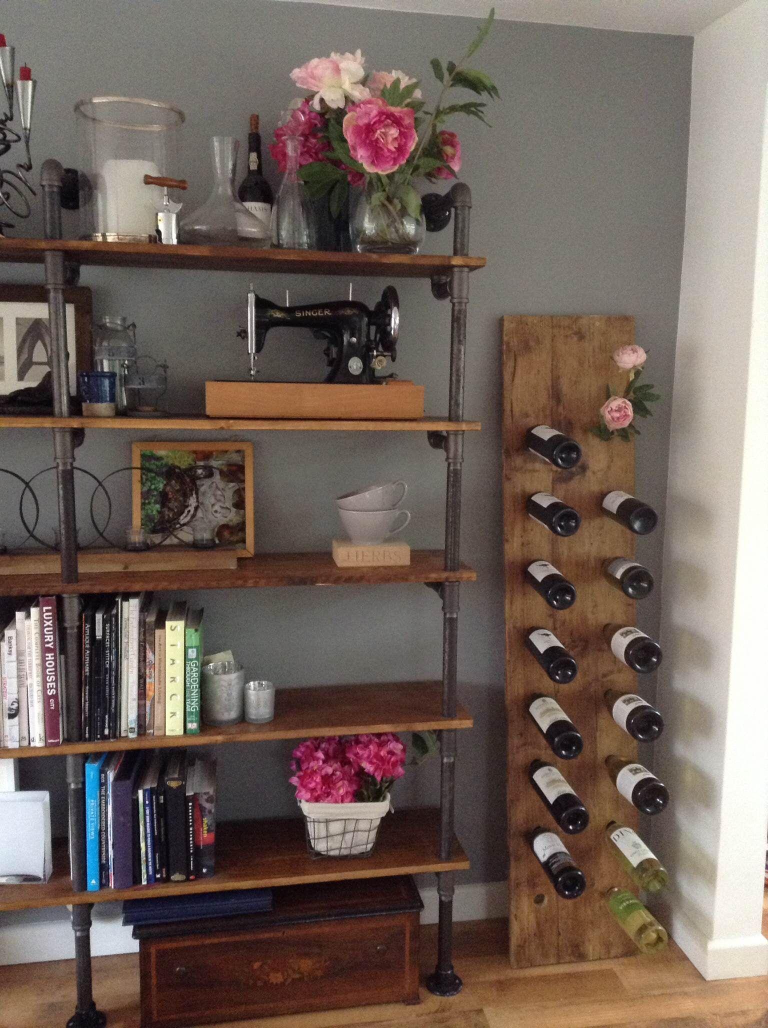 Reclaimed Scaffold Board Wine Rack