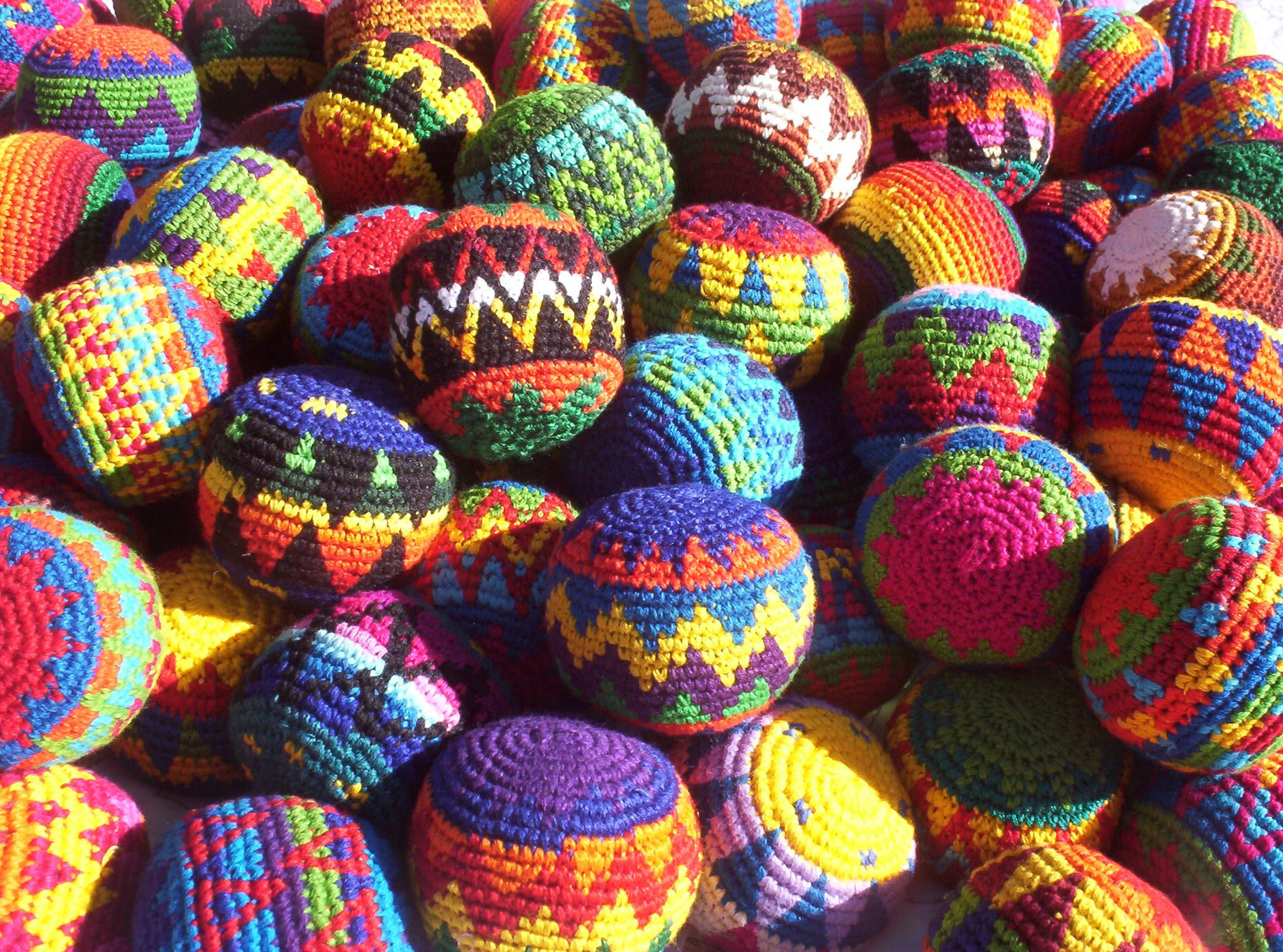 Hacky Sack~ Set of 3 ~ Assorted Colors ~ High Quality ~ Imported From Guatemala Penny Lane Gifts