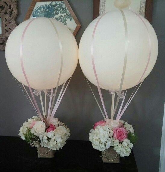 Hot air balloon wedding centerpiece my creations