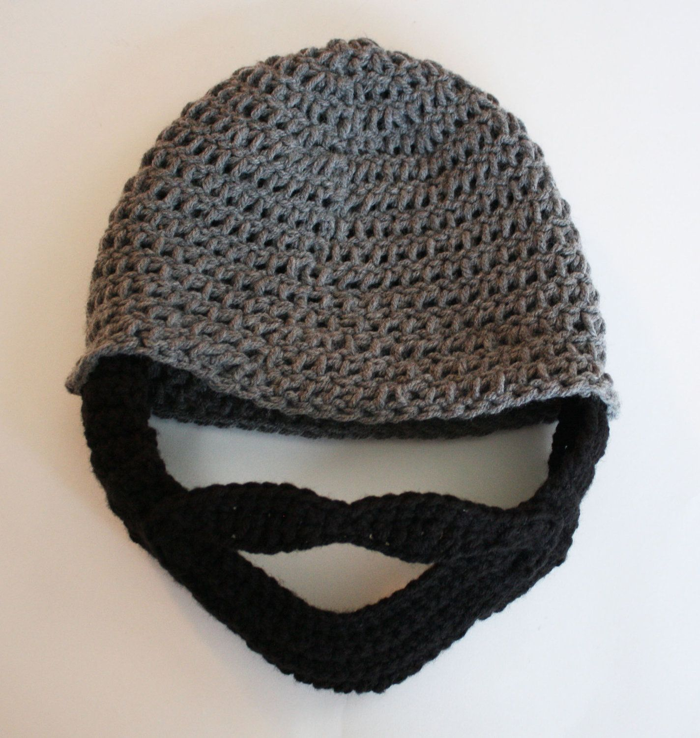 Crochet Beard Hat with Mustache #crochetedbeards