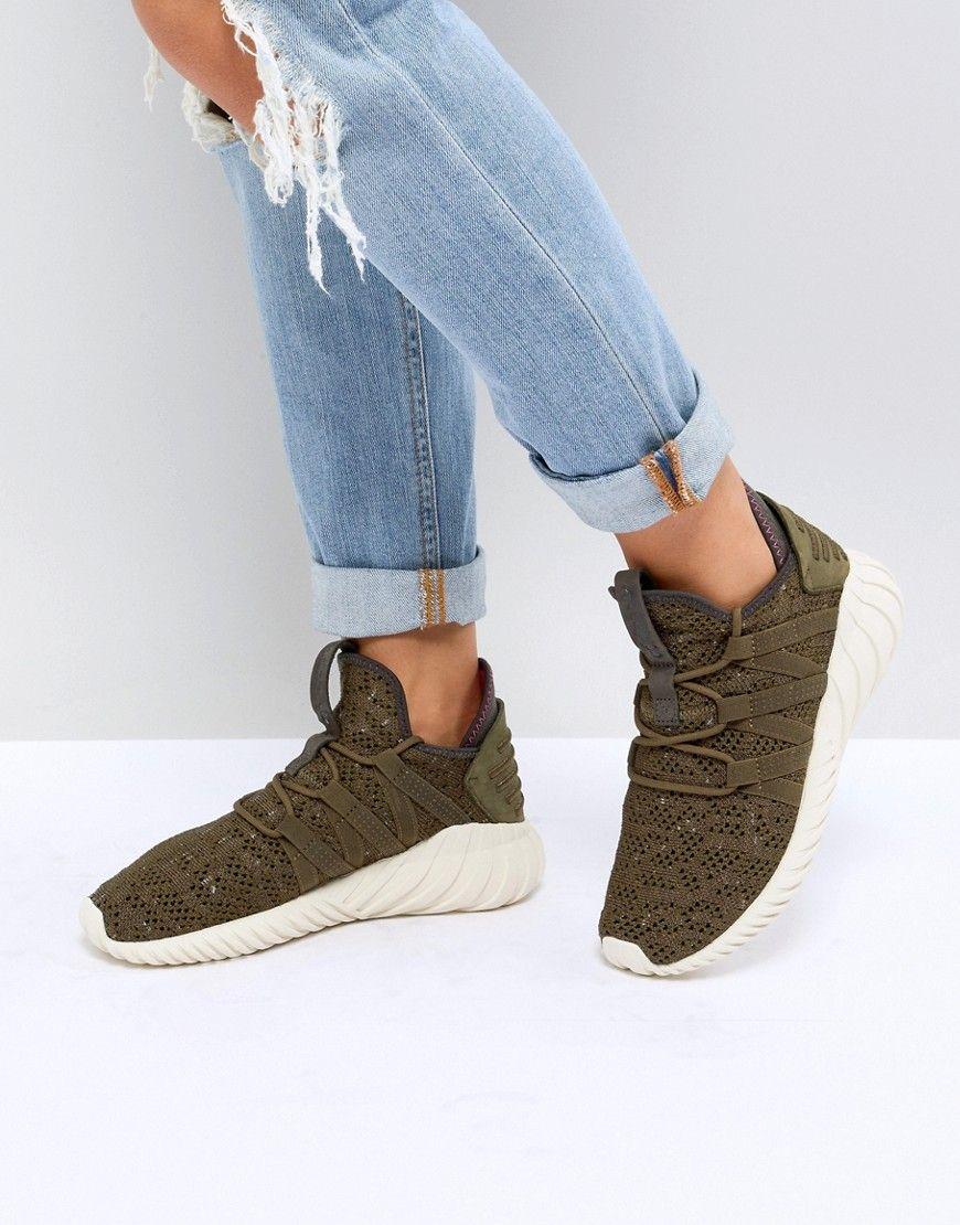 wholesale dealer d8f21 ea3ba ADIDAS ORIGINALS ADIDAS ORIGINALS TUBULAR DAWN SNEAKER IN KHAKI - WHITE.  adidasoriginals shoes