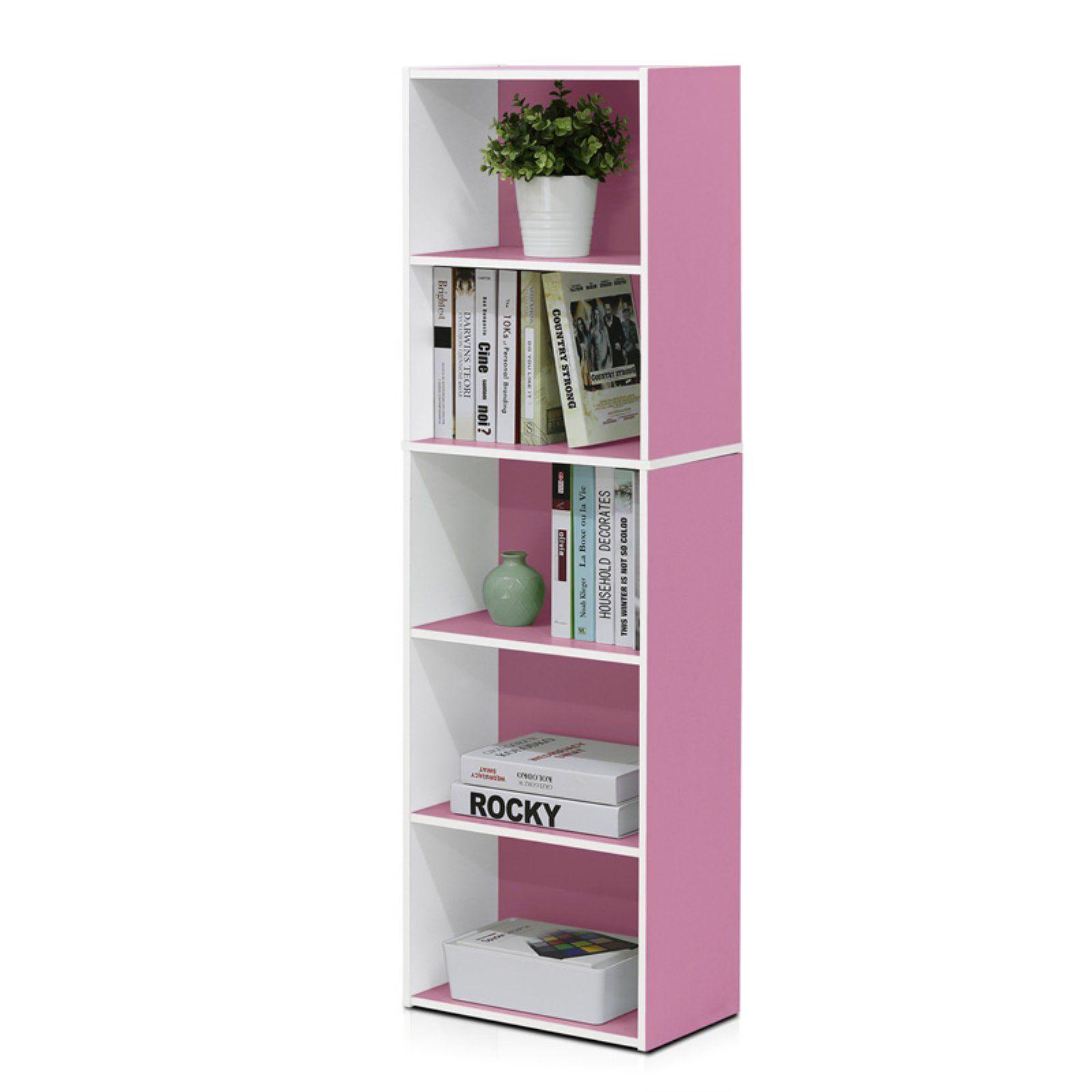 Furinno Bookcase Open Shelf 5 Tier Reversible Display Storage Decor Kids Room
