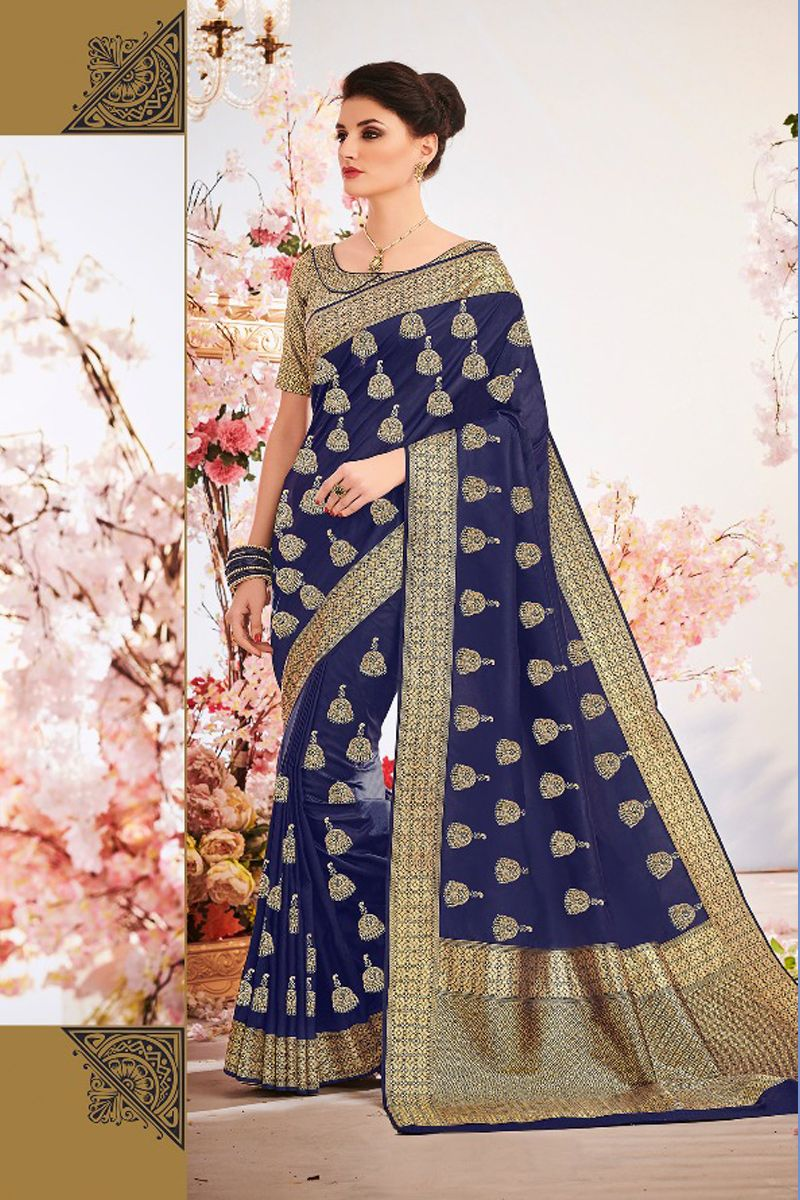 Look Stylish in Trendy silk sari fashion Shop Wedding Divas
