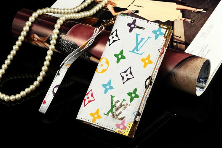 Leather LV iphone 6 Wallet Case Design pouch Cover white