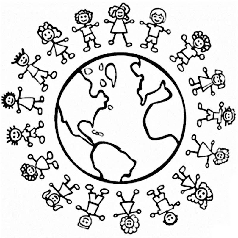 Images universal childrens day coloring pages Pre K