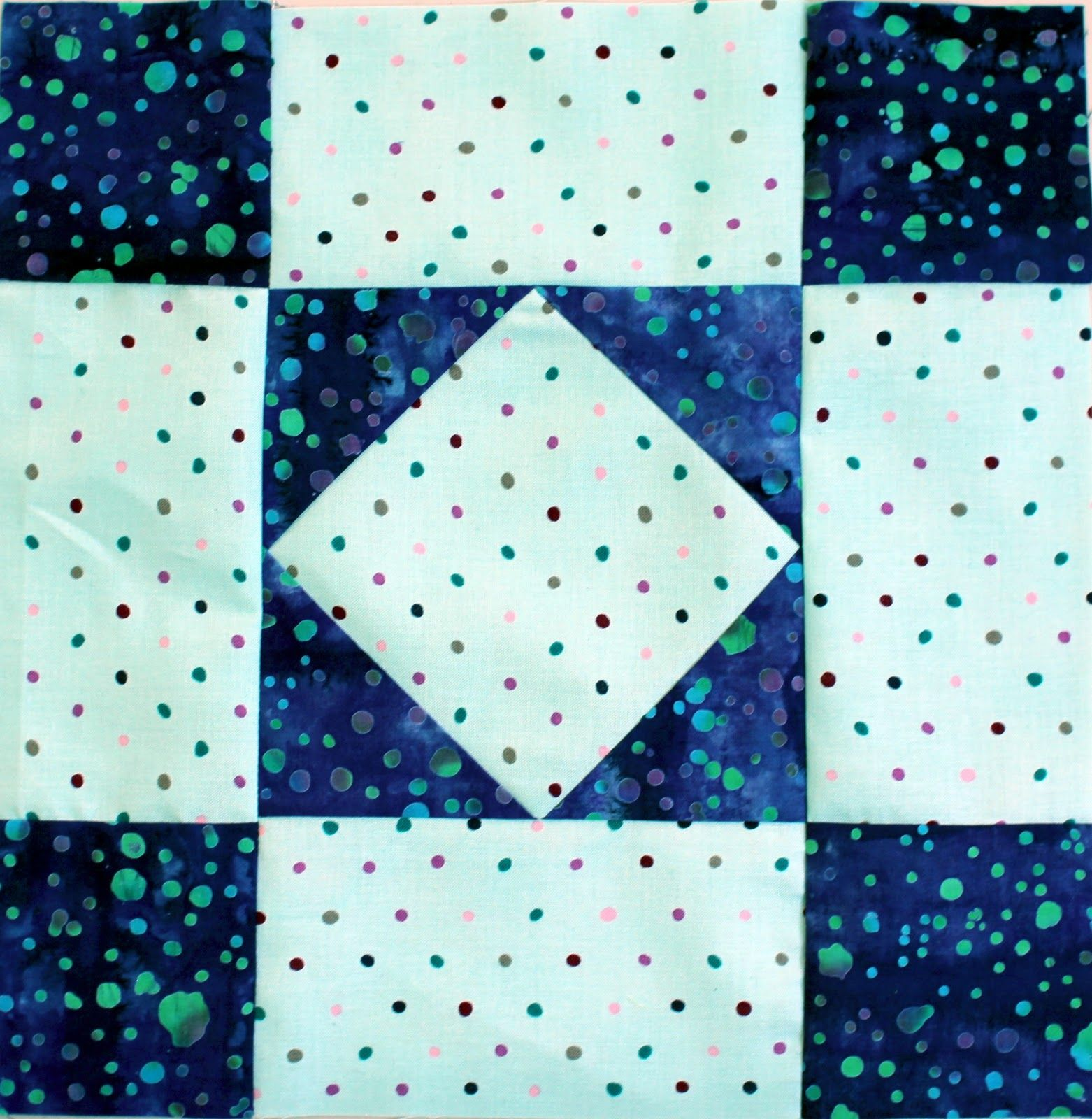 quilts with just square blocks | Block #2 is an Amish Diamond ... : amish diamond quilt pattern - Adamdwight.com