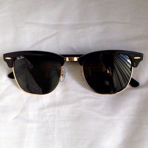 black clubmaster ray bans  Ray-Ban Black Clubmaster Sunglasses