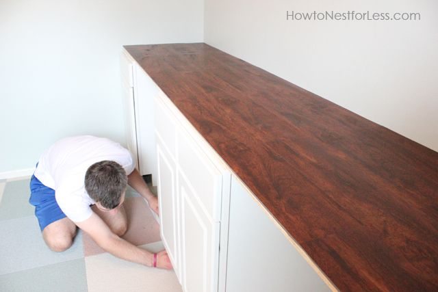 Craft Room Desk Tutorial How To Nest For Less Craft Room Desk Craft Room Room Desk
