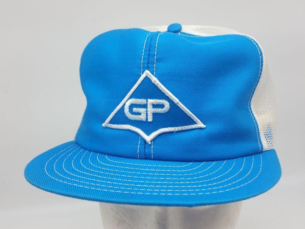 986e8b5a677 Louisville USA Blue 2 Color GP Georgia Pacific Patch Mesh Snapback Trucker  Hat  LouisvilleMfgCo  TruckerHat